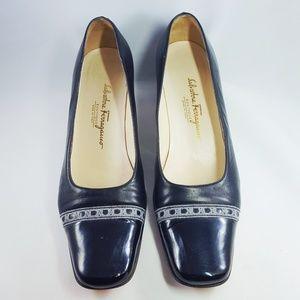 Salvatore Ferragamo Boutique Black Patent Leather